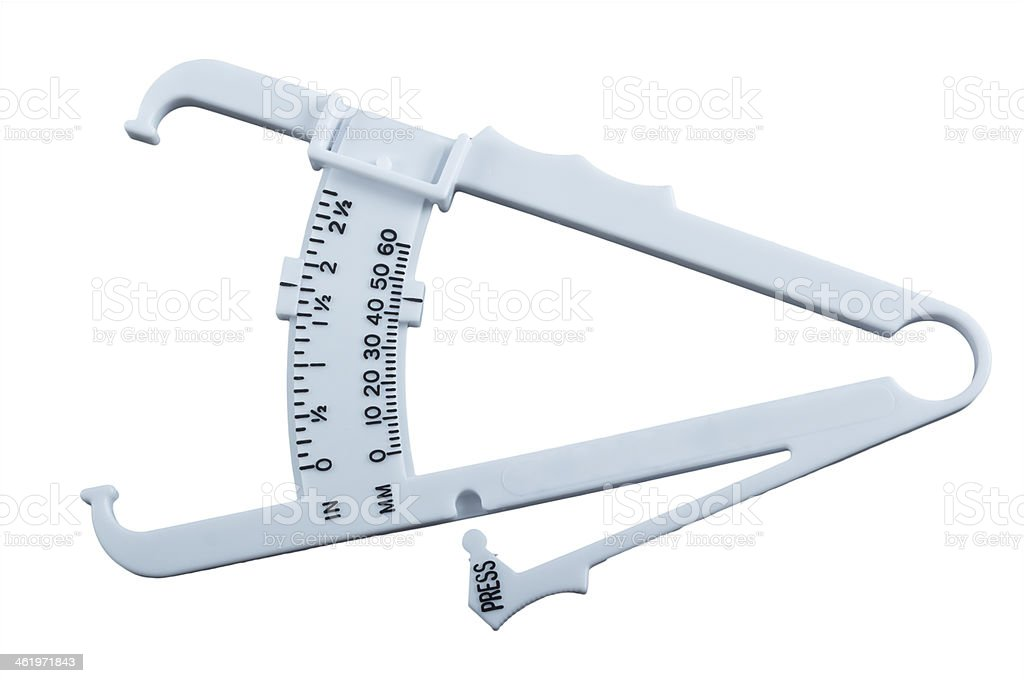 Body fat measuring calipers. stock photo