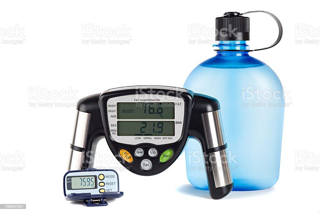 Body fat monitor and Padometer royalty-free stock photo