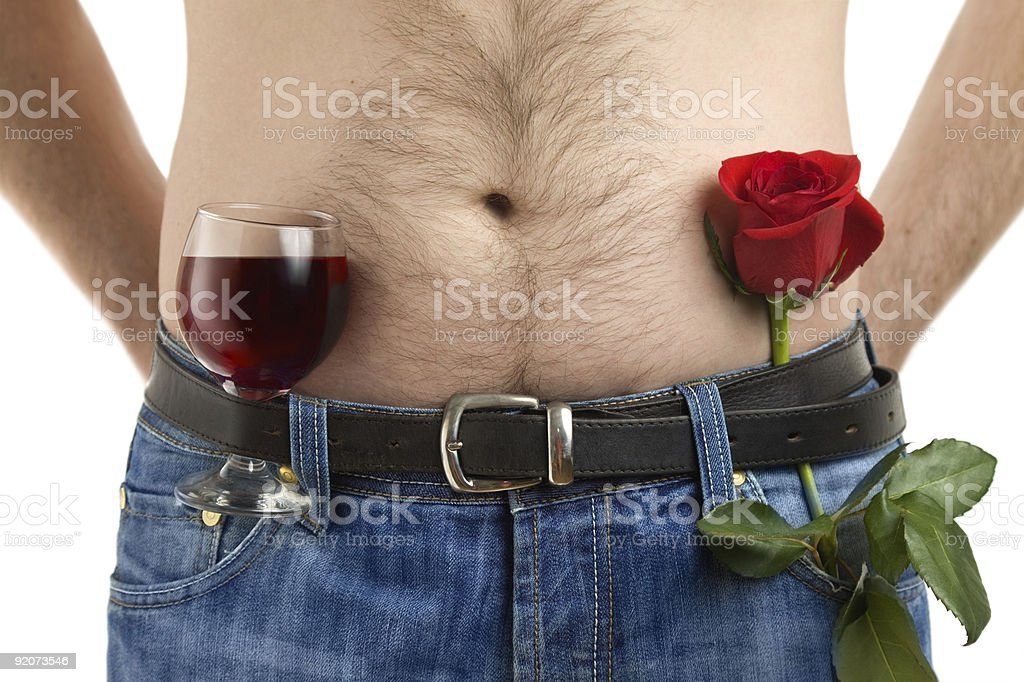 Body flower and wine royalty-free stock photo