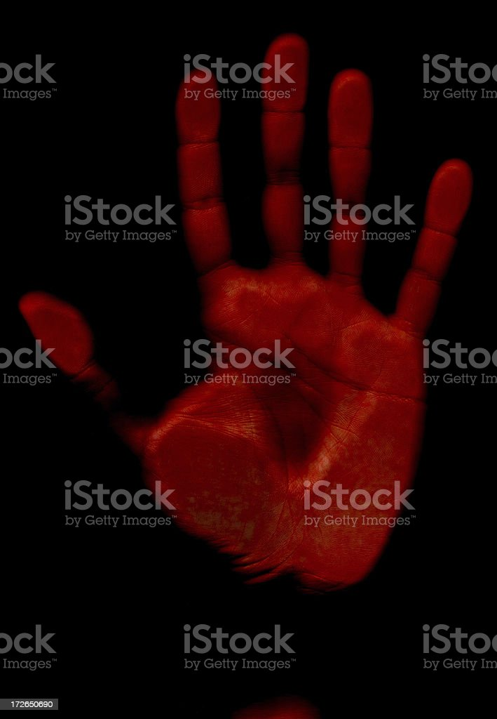 Body Horror - Red Hand royalty-free stock photo