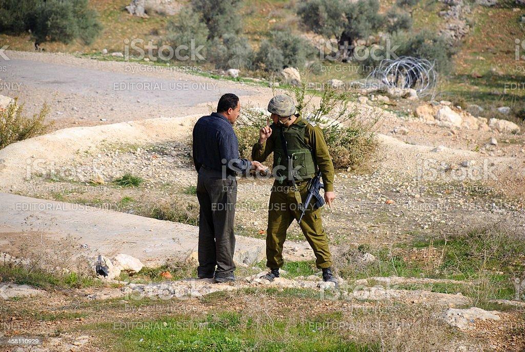 Body language in Israel/Palestine stock photo