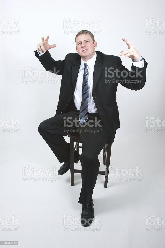 Body language royalty-free stock photo