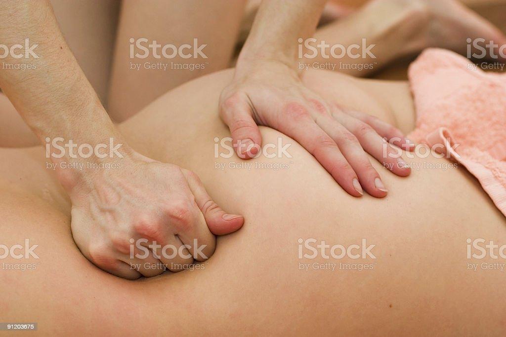 Body massage royalty-free stock photo