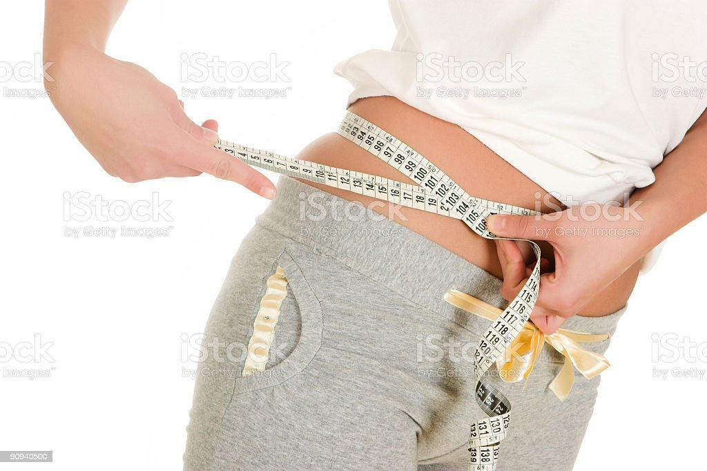 Body measurement stock photo