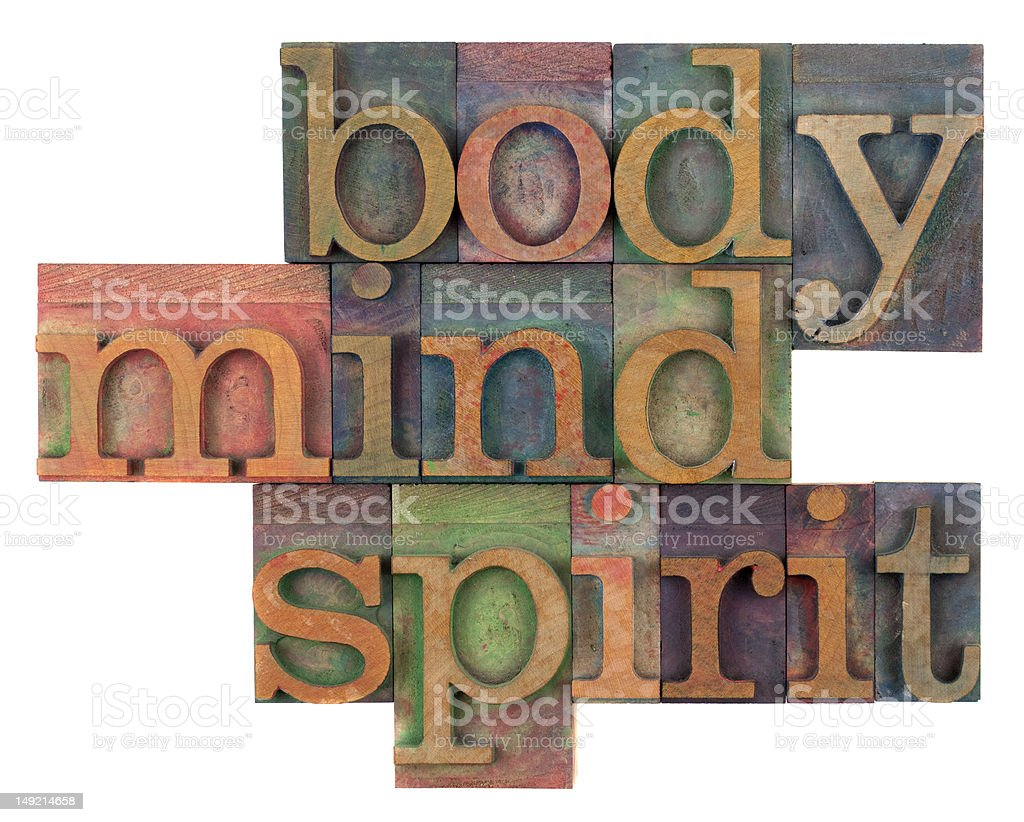 body, mind and spirit concept stock photo