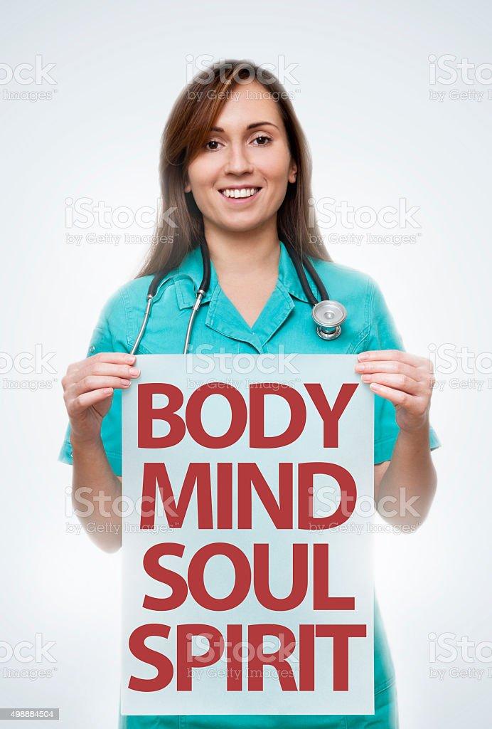Body, Mind, Soul, Spirit / Medicine concept (Click for more) stock photo