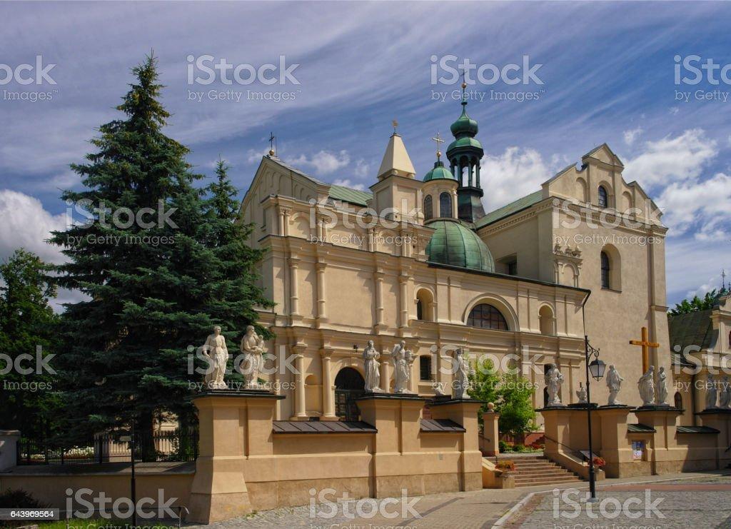 Body of Christ's Collegiate church in Jaroslaw. Poland stock photo