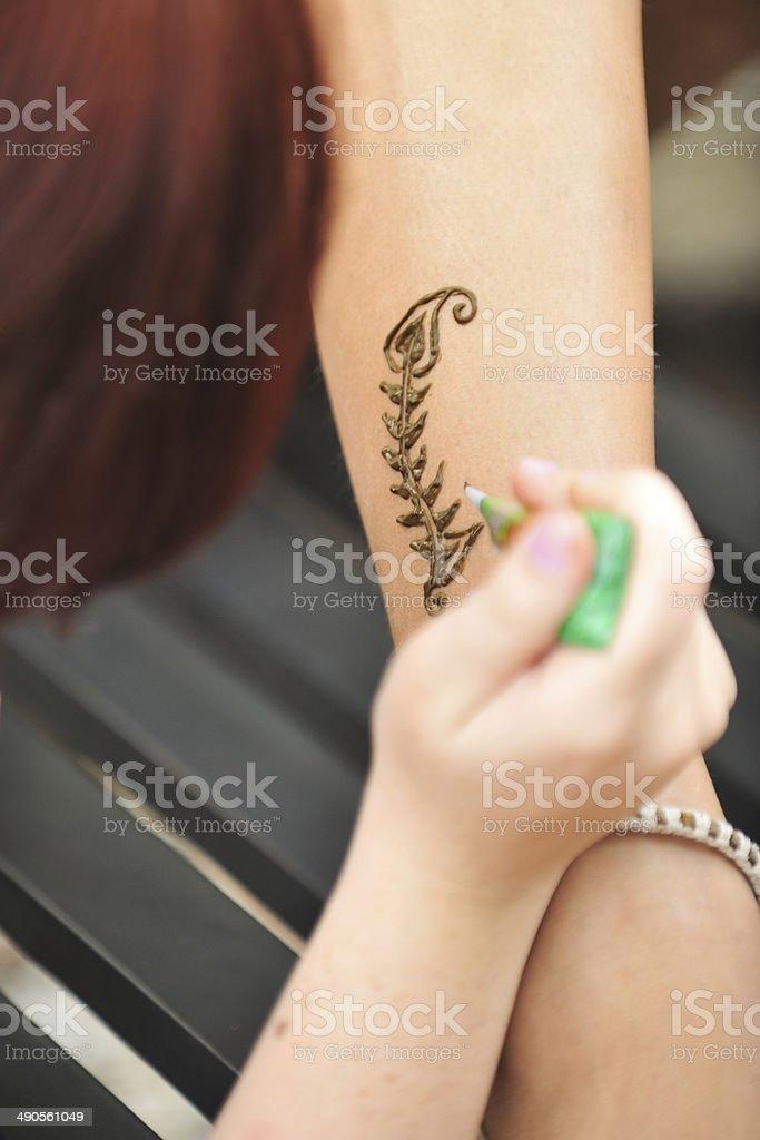 body painting stock photo