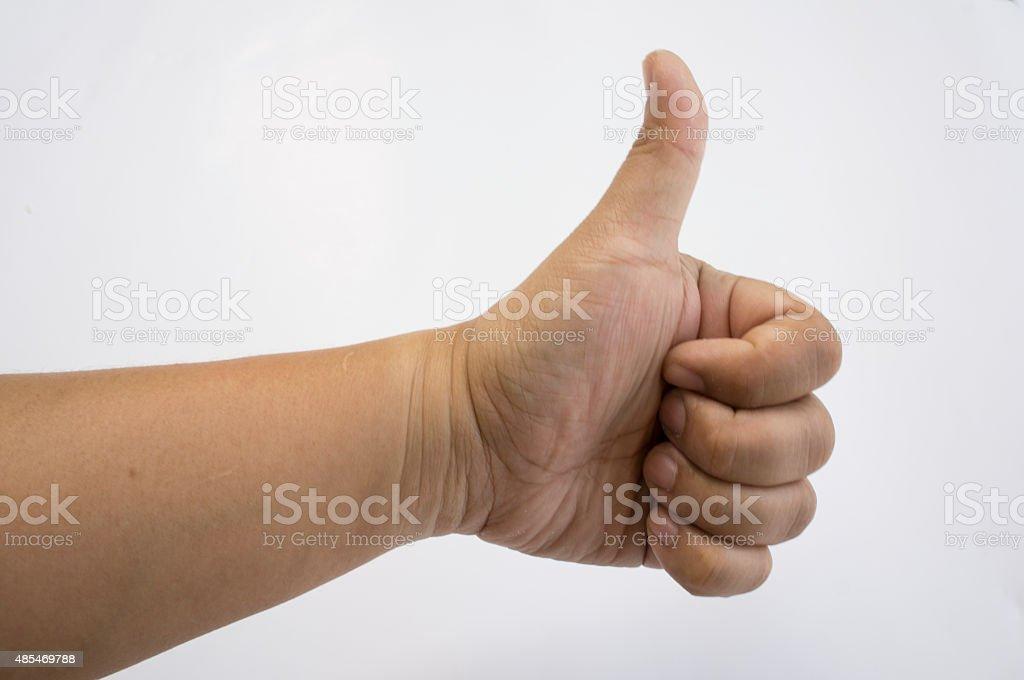 body part human hand thumb up sign symbol concept stock photo