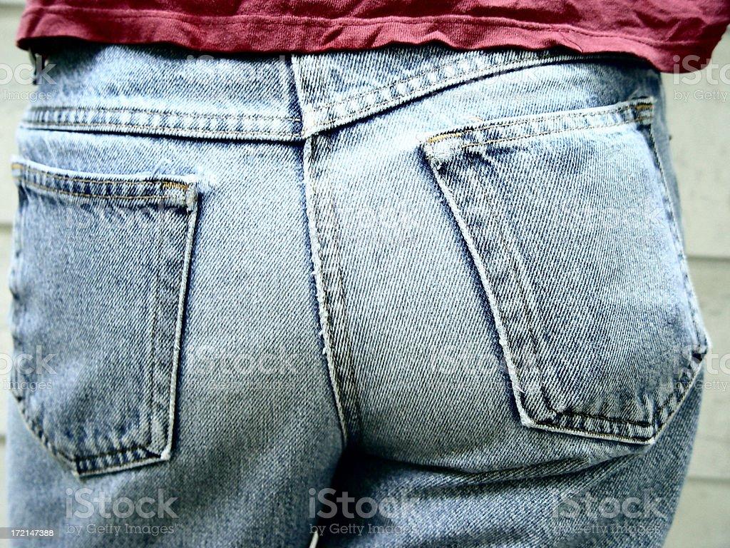 body parts - plain jeans 1/2 royalty-free stock photo