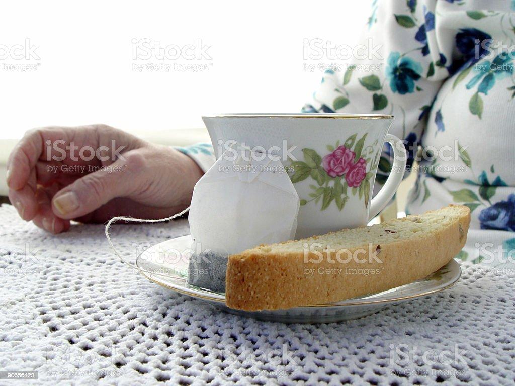 body parts - tea time royalty-free stock photo