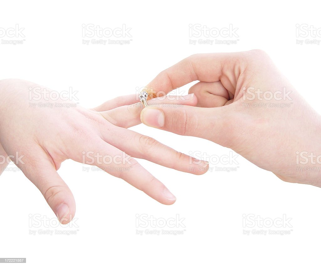 body parts - the ring royalty-free stock photo
