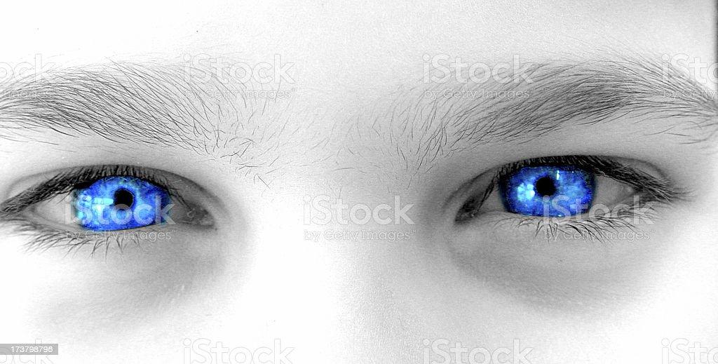 Body & People - Mono Blue Eyes Close Up royalty-free stock photo