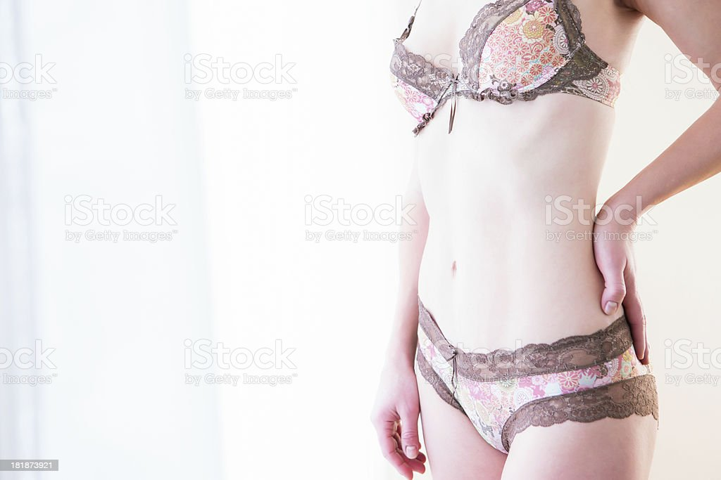 Body shot of woman in lingerie royalty-free stock photo