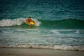 Body surfing in the Atlantic Ocean