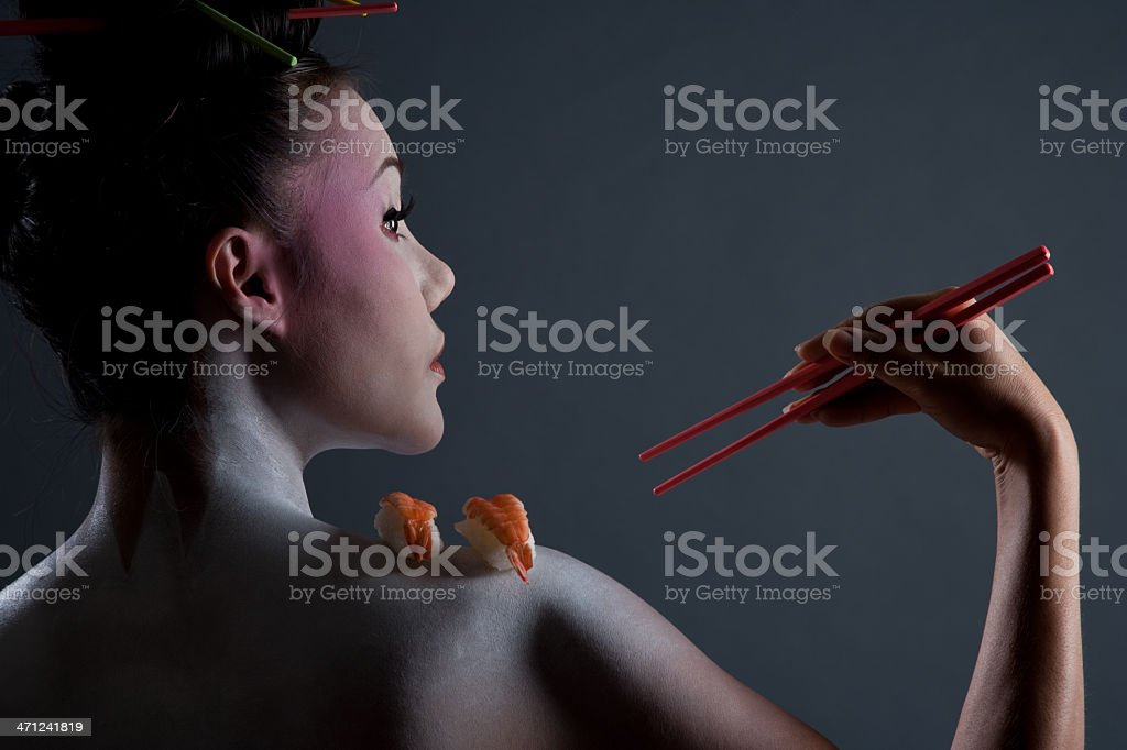 Body Sushi Geisha royalty-free stock photo