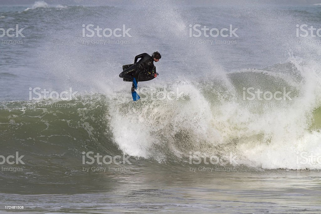 Bodyboarder royalty-free stock photo