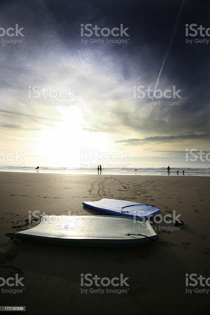 Bodyboards royalty-free stock photo