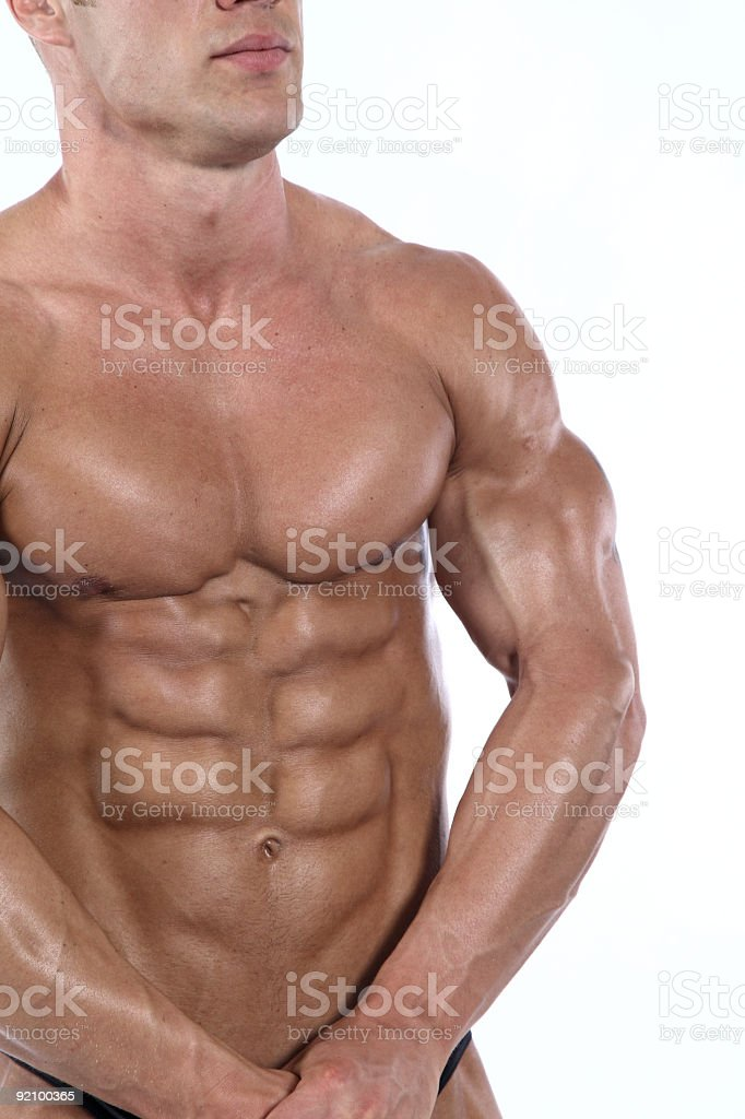 Bodybuilder details royalty-free stock photo