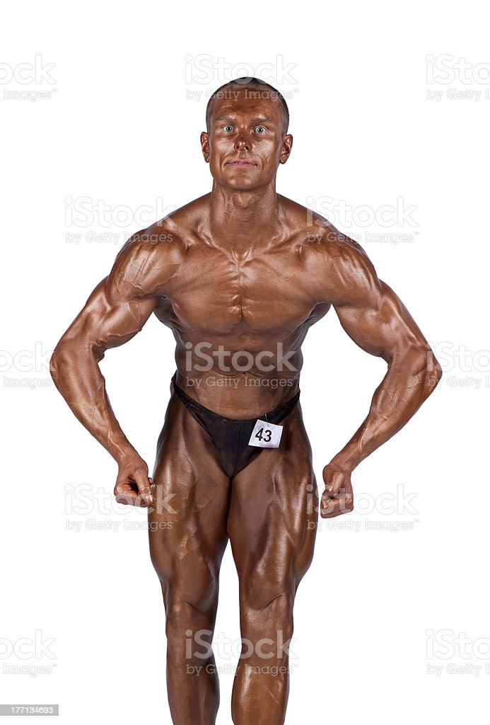 bodybuilder flexing royalty-free stock photo