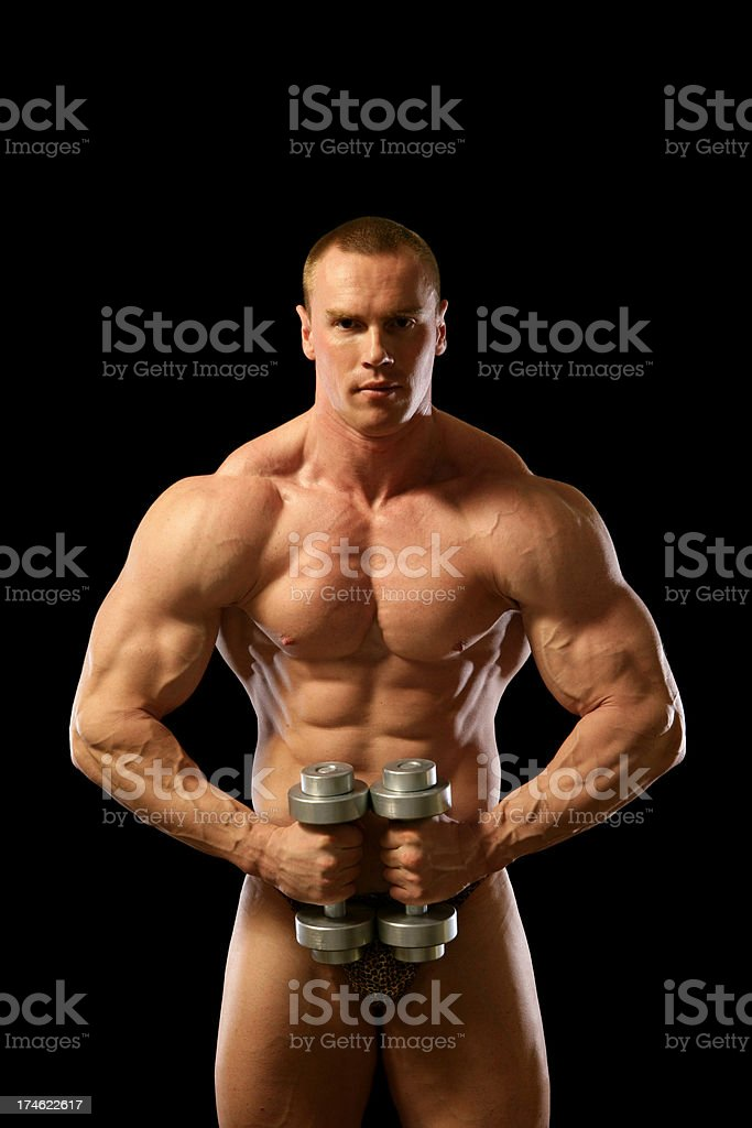 Bodybuilder (XXL) royalty-free stock photo