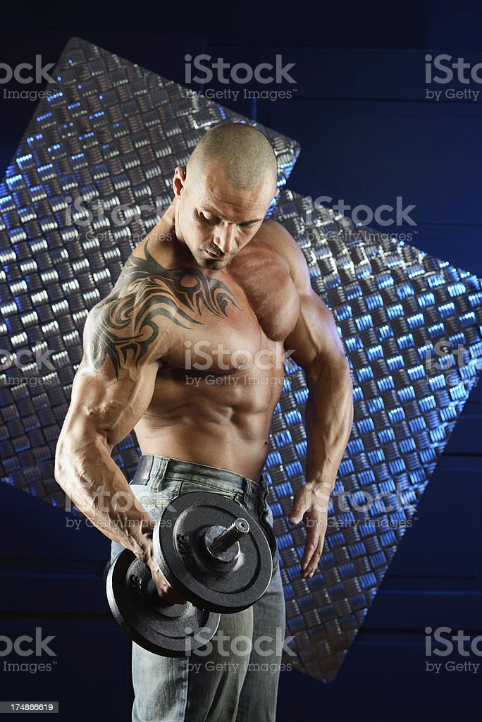 Bodybuilder royalty-free stock photo