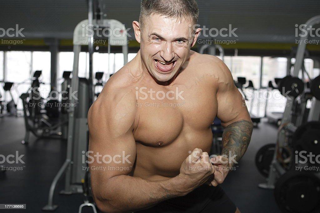 Bodybuilder royalty-free stock photo