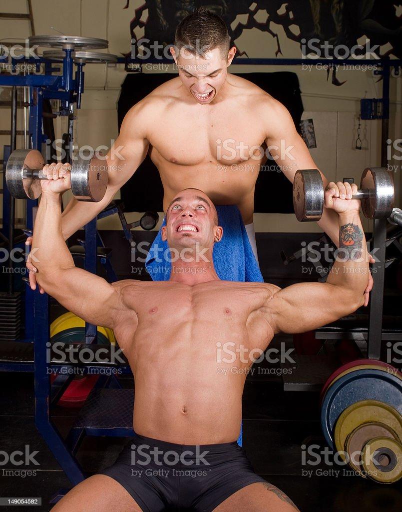 Bodybuilders training royalty-free stock photo