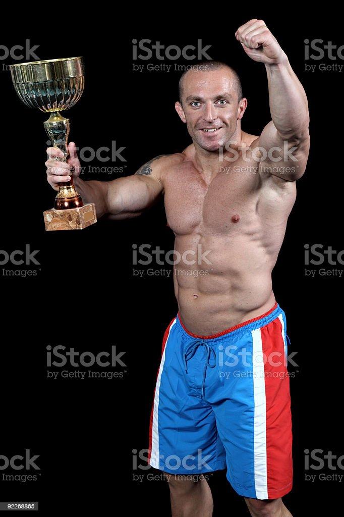 Bodybuilding Champion royalty-free stock photo
