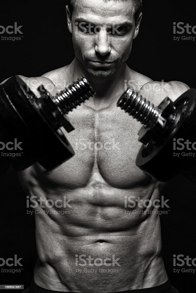Bodybuilding royalty-free stock photo