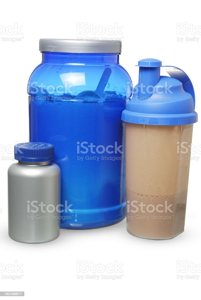 bodybuilding supplement stock photo