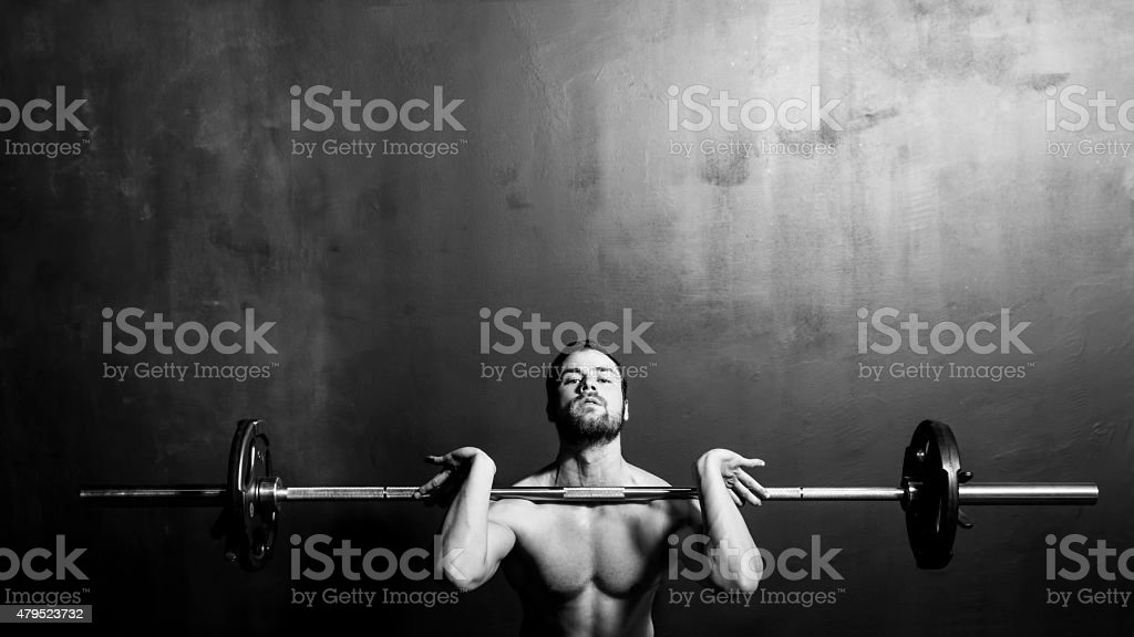 Bodybuilding Weightlifting Man stock photo
