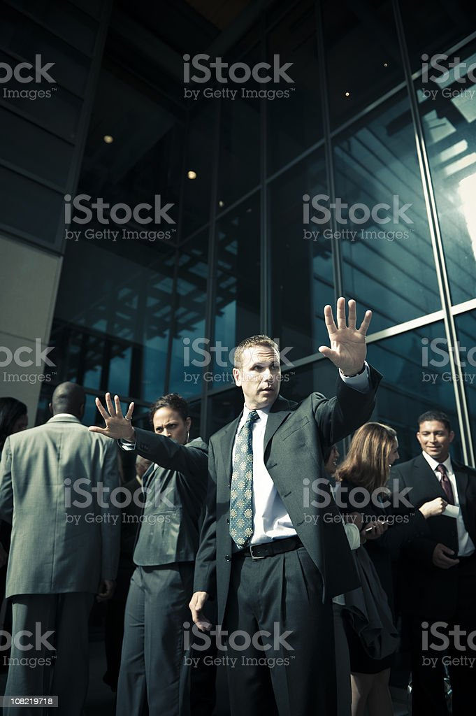 Bodyguards royalty-free stock photo