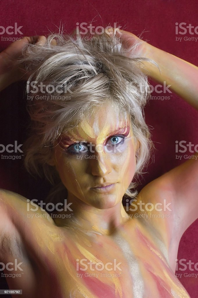 Bodypaint royalty-free stock photo