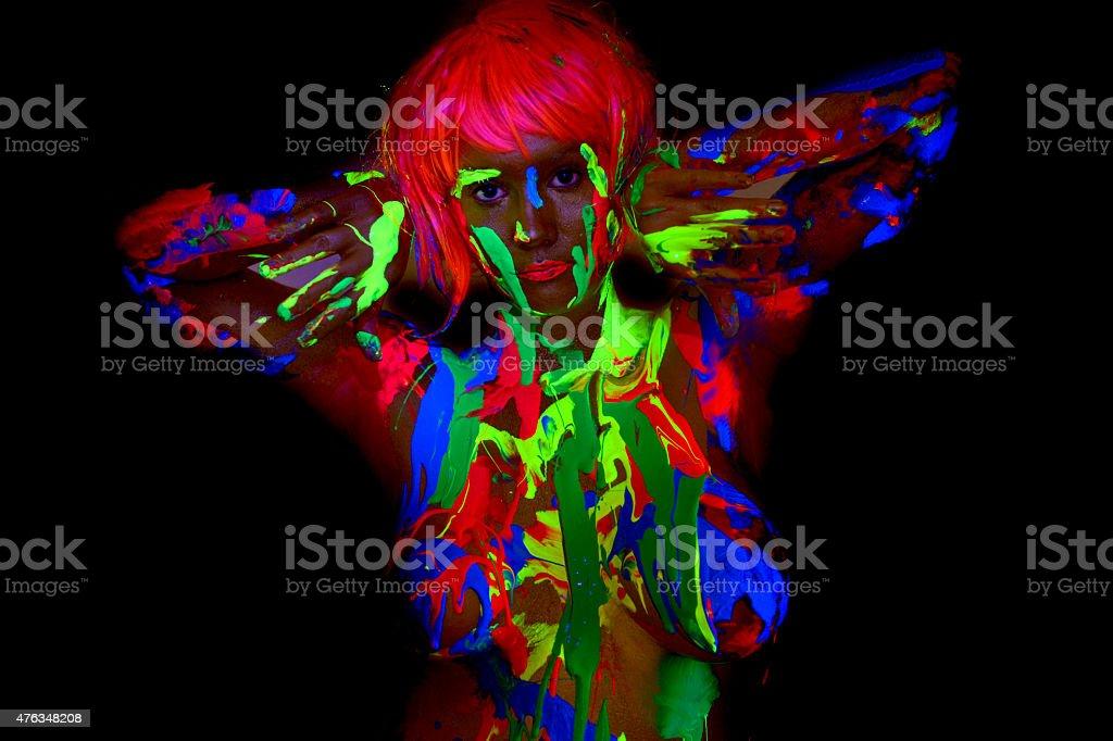 UV Bodypainting stock photo