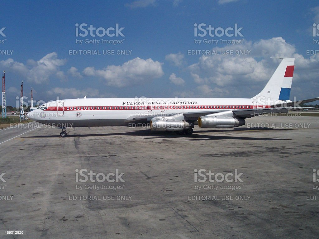 Boeing 707 of the Paraguay Air Force stock photo