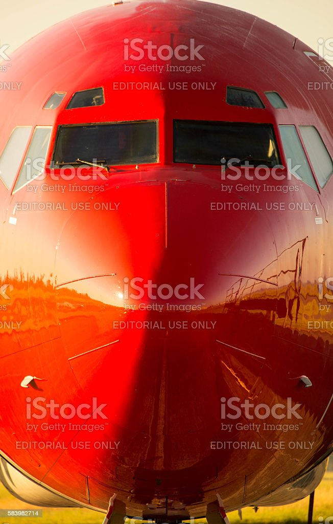 Boeing 727-2S2F Aircraft stock photo