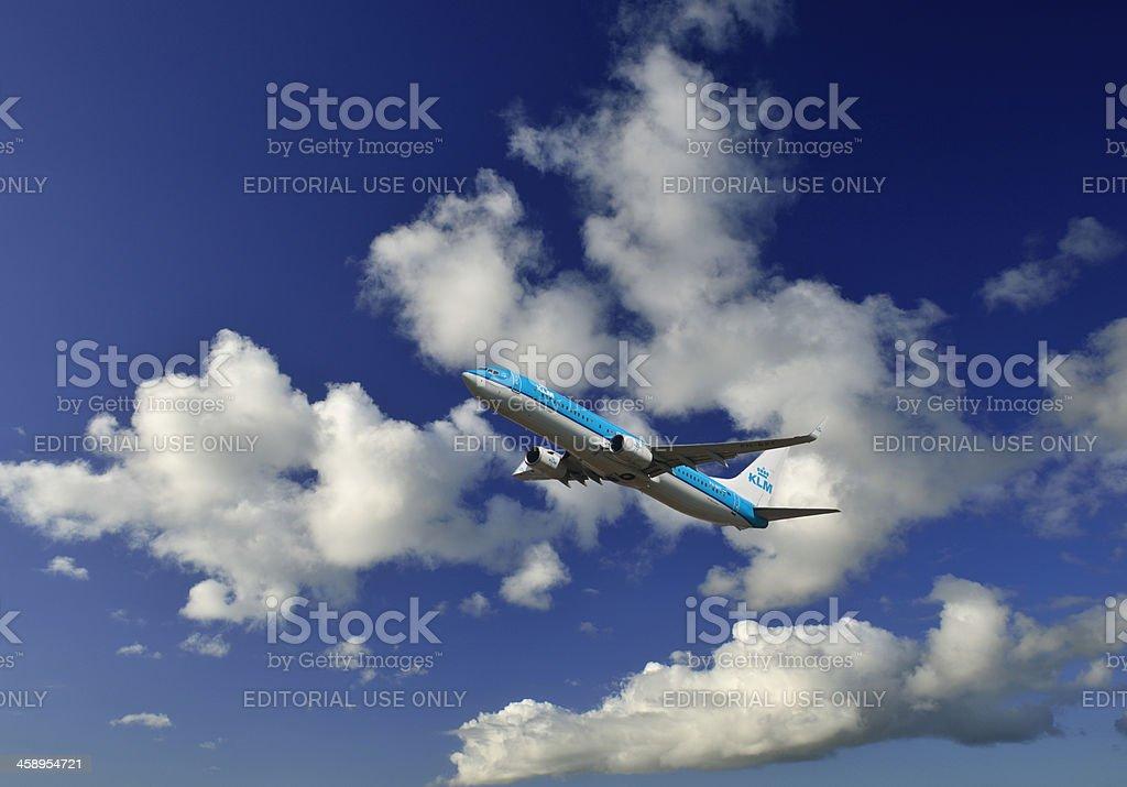 KLM Boeing 737 Airplane stock photo