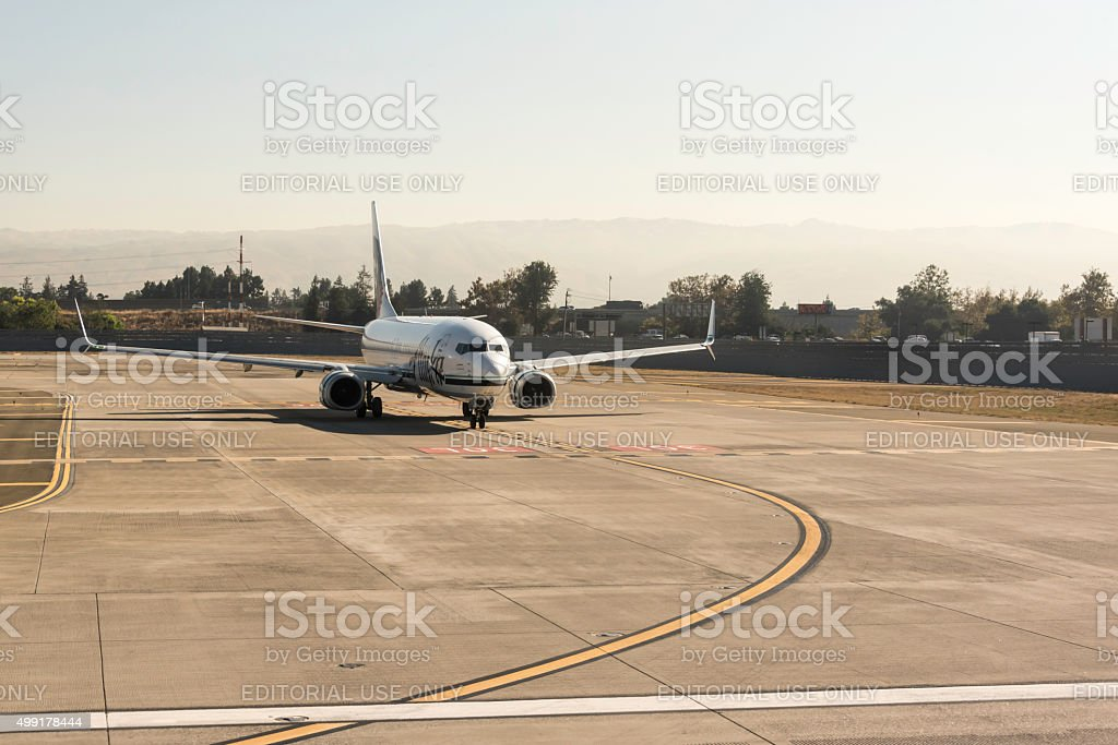Boeing 737 Alaska Airlines stock photo