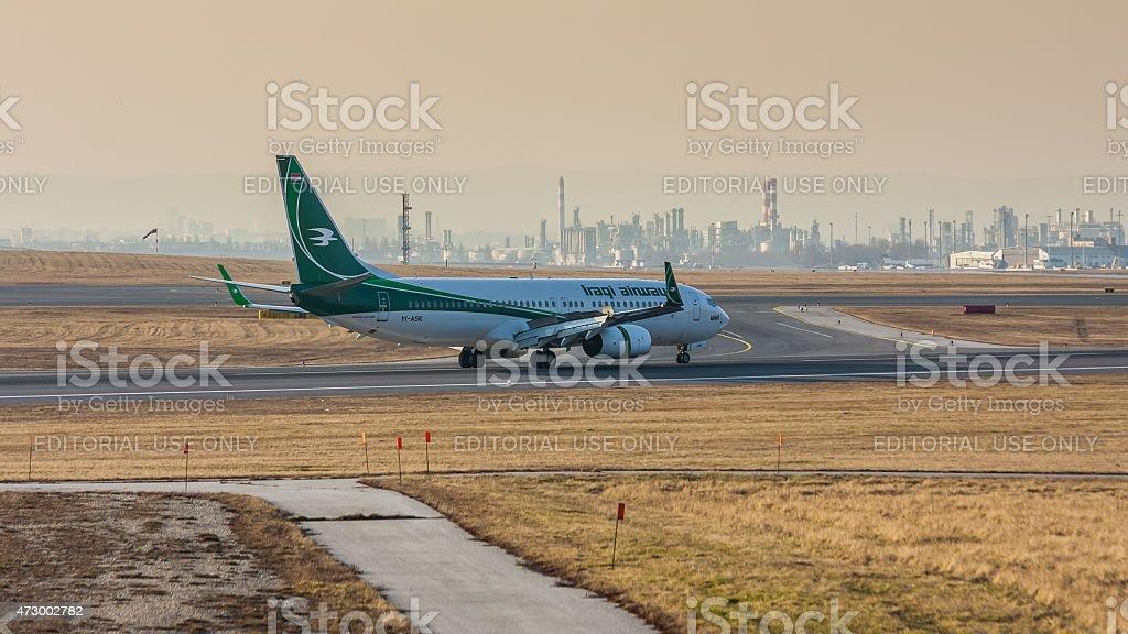 Boeing 737 Iraqi Airways stock photo