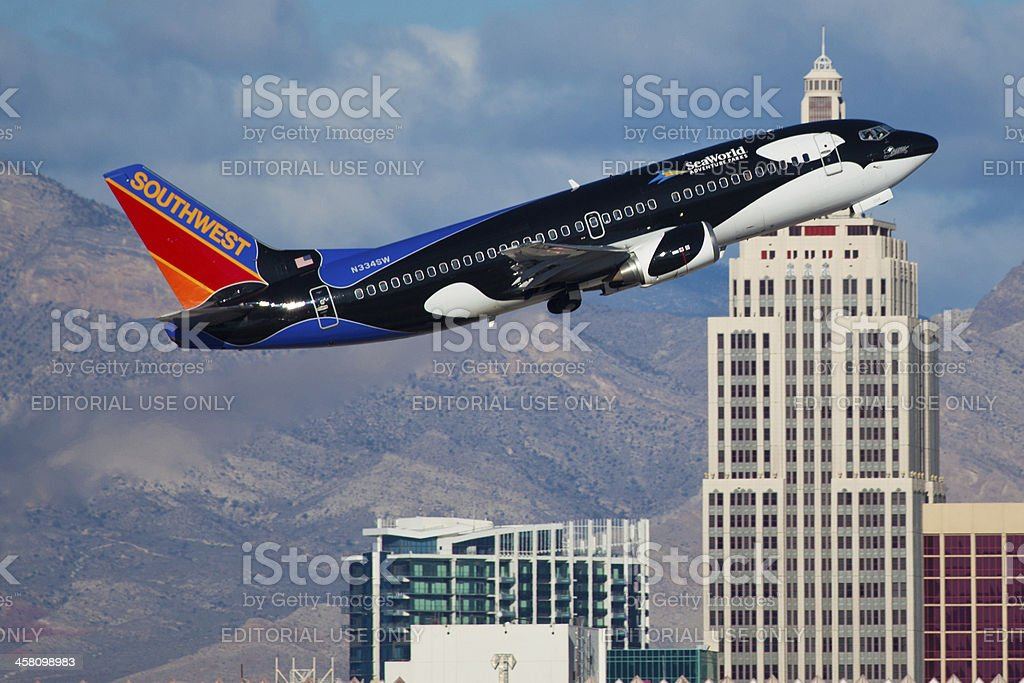 Boeing 737-300 of Southwestern airlines stock photo