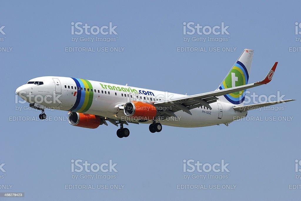 Boeing 737-800 from Transavia royalty-free stock photo