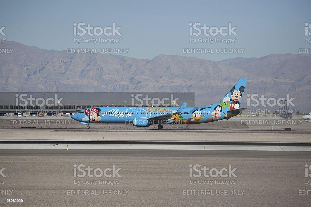 Boeing 737-900 Alaska with Disney livery stock photo