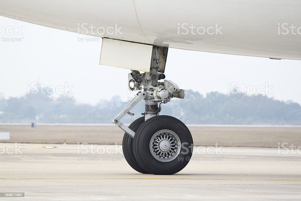 Boeing 747 nose landing gear royalty-free stock photo