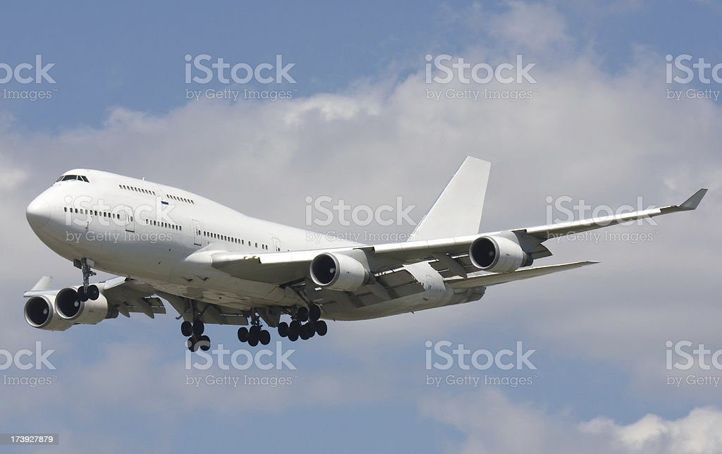 Boeing 747 royalty-free stock photo
