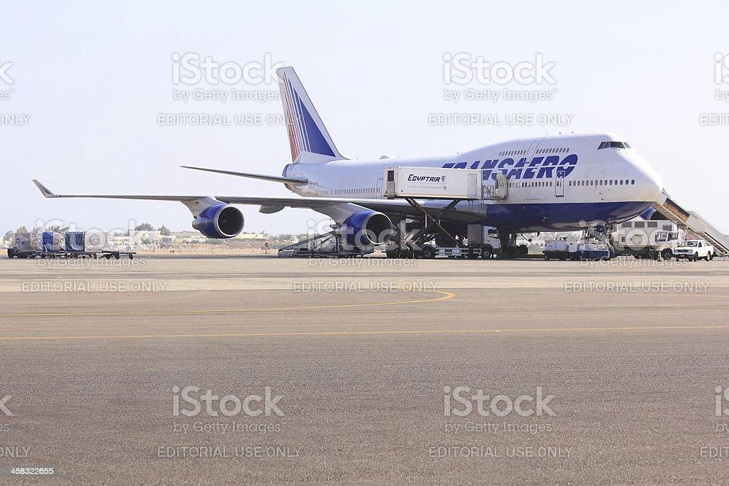 Boeing 747 royalty-free stock photo