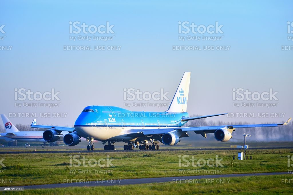 KLM Boeing 747 royalty-free stock photo