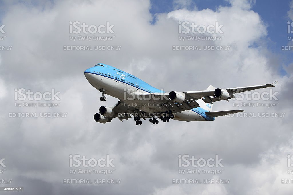 KLM Boeing 747-400 royalty-free stock photo