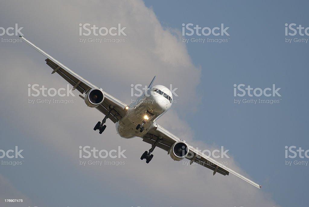 Boeing 757 landing stock photo