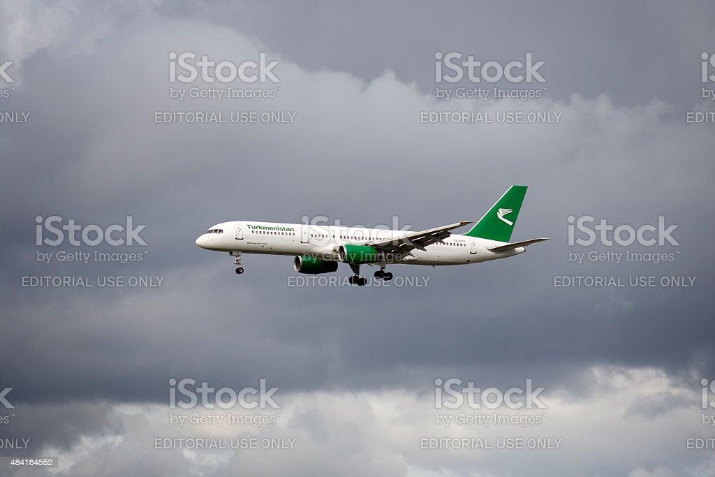 Boeing 757 Turkmenistan Airlines stock photo